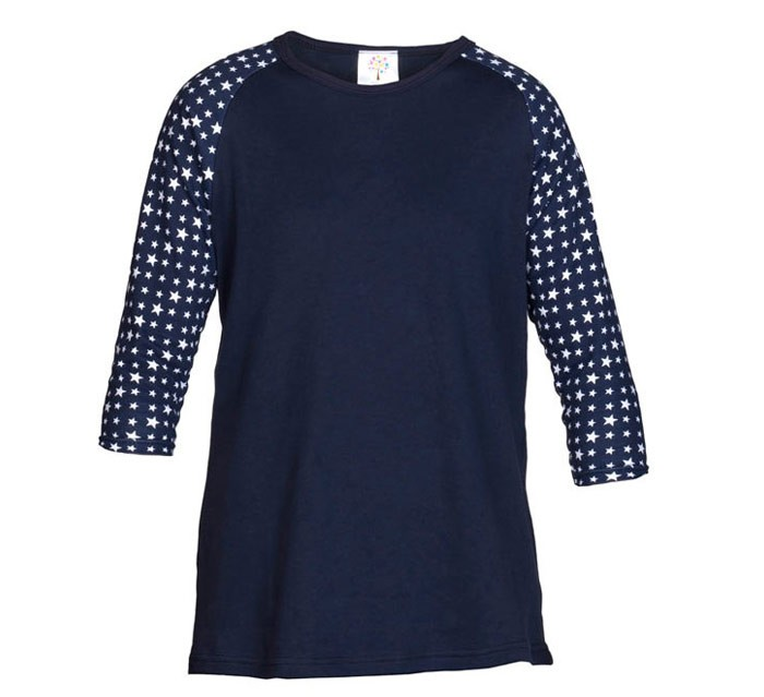 Navy Girls Top