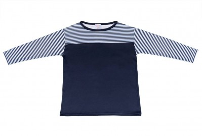 Navy Nautical Stripe Top