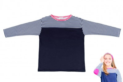Pink Nautical Stripe Top