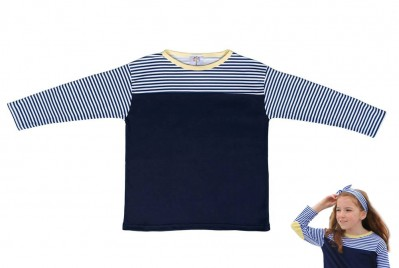 Lemon Nautical Stripe Top